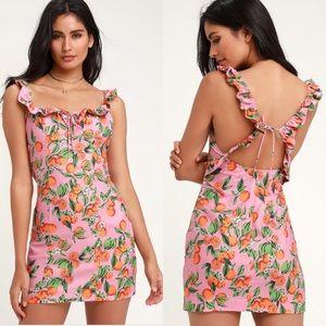 Finders Keepers Aranciata Tie back mini dress SM
